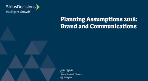 Planning Assumptions for 2018: Brand and Communications Webcast Replay