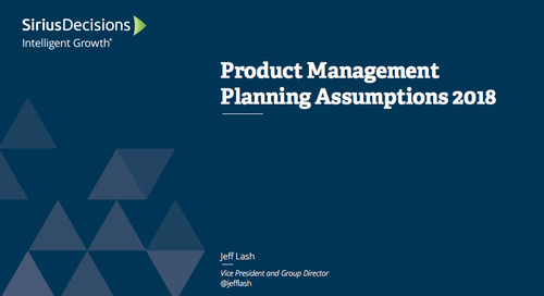 Planning Assumptions for 2018: Product Management Webcast Replay