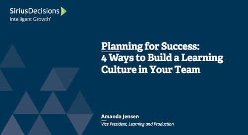 Planning for Success: 4 Ways to Create a Powerful Learning Culture in Your B-to-B Team Webcast Replay