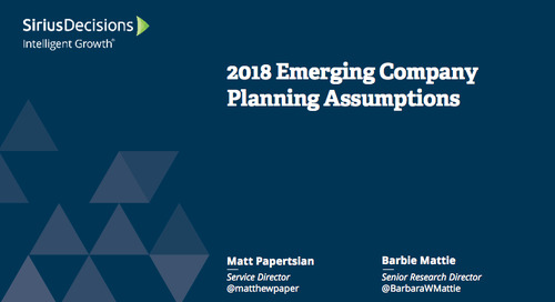 2018 Emerging Company Planning Assumptions Webcast Replay