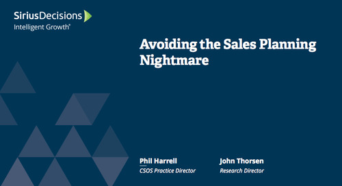 Avoiding the Sales Planning Nightmare Webcast Replay