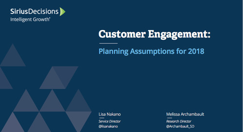 Planning Assumptions for 2018: Customer Engagement Webcast Replay