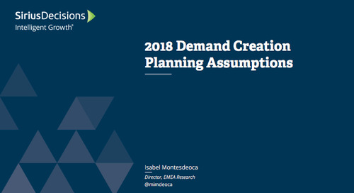 Planning Assumptions for 2018: Demand Creation Webcast Replay
