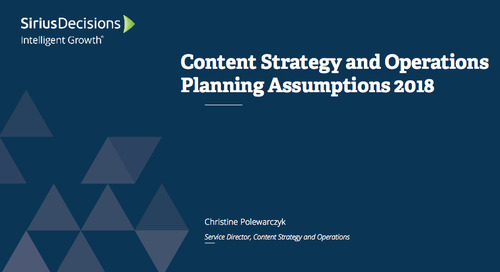 Planning Assumptions for 2018: Content Strategy and Operations Webcast Replay
