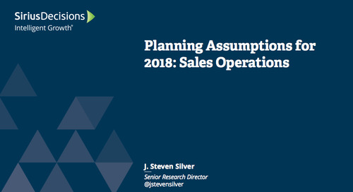 Planning Assumptions for 2018: Sales Operations Webcast Replay