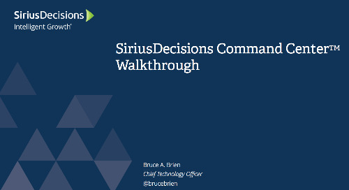 SiriusDecisions Command Center Walkthrough