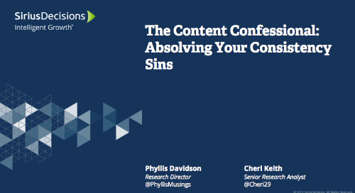 The Content Confessional: Absolving Your Consistency Sins Webcast Replay