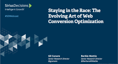 Staying in the Race: The Evolving Art of Web Conversion Optimization Webcast Replay