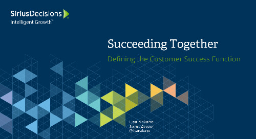 Succeeding Together: Defining the Customer Success Function Webcast Replay