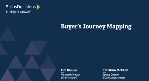 Buyer's Journey Mapping Webcast Replay