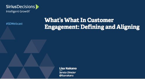 What's What in Customer Engagement: Defining and Aligning Webcast Replay