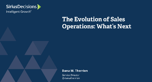 The Evolution of Sales Operations - What's Next Webcast Replay