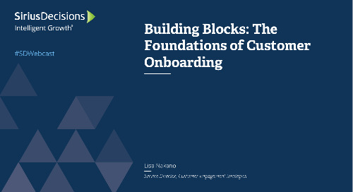 Building Blocks: The Foundations of Customer Onboarding