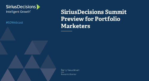 Preview of 2018 Summit for Portfolio Marketers Webcast Replay