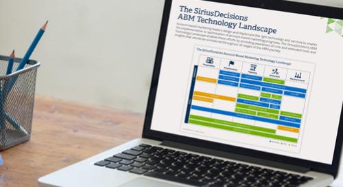 The SiriusDecisions ABM Technology Landscape