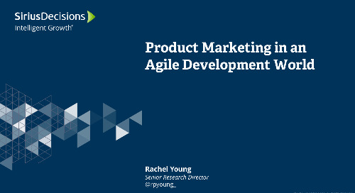 Product Marketing in an Agile Development World Webcast Replay