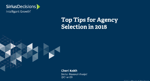 Top Tips for Agency Selection in 2018 Webcast Replay