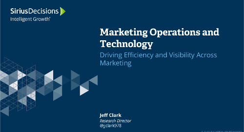 Marketing Operations and Technology: Driving Efficiency and Visibility Webcast Replay