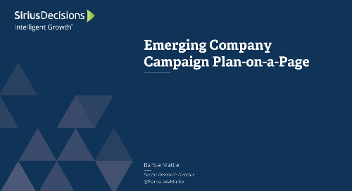 Emerging Company Campaign Plan-on-a-Page Webcast Replay