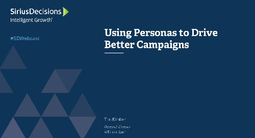 Using Personas to Drive Better Campaigns