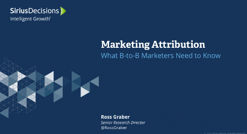 Marketing Attribution: What All B-to-B Marketers Need to Know Webcast Replay