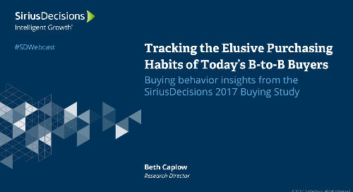 Tracking the Elusive Purchasing Behavior of Today's B-to-B Buyers Webcast Replay