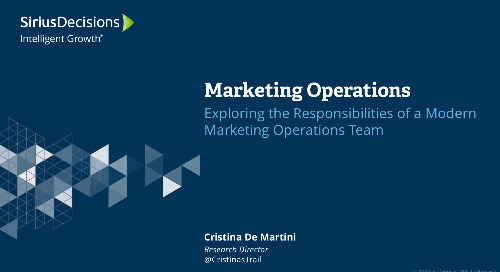 Marketing Operations – Exploring the Responsibilities of a Modern Marketing Operations Team Webcast Replay