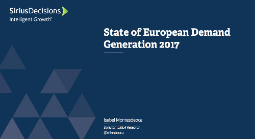 The State of European Demand Generation Webcast Replay