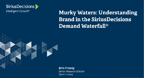 Murky Waters: Understanding Brand in the SiriusDecisions Demand Waterfall Webcast Replay