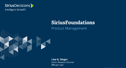 SiriusFoundations: Product Management Webcast Replay