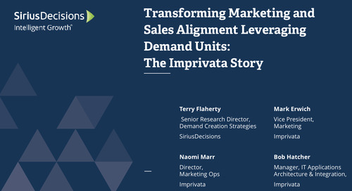How Imprivata Transformed Marketing and Sales Alignment through the SiriusDecisions Demand Unit Waterfall™