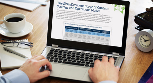 The SiriusDecisions Scope of Content Strategy and Operations Model