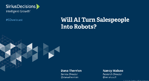 Will AI Turn Salespeople Into Robots? Webcast Replay