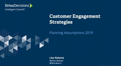 2019 Planning Assumptions: Customer Engagement Webcast Replay