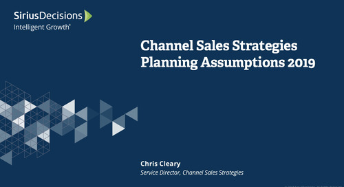 2019 Planning Assumptions: Channel Sales Webcast Replay