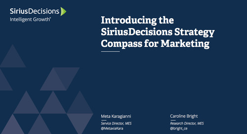 Introducing the SiriusDecisions Strategy Compass for Marketing Webcast Replay