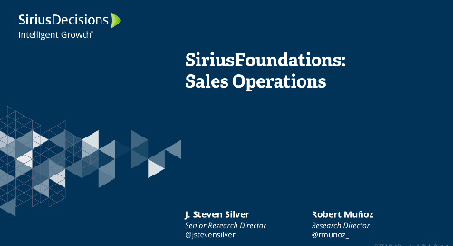 SiriusFoundations: Sales Strategy & Operations Webcast Replay