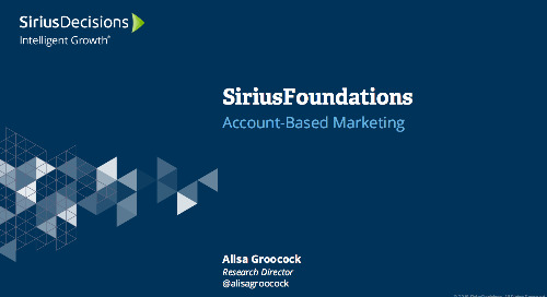SiriusFoundations: Account-Based Marketing Webcast Replay