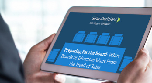What Boards of Directors Want From the Head of Sales