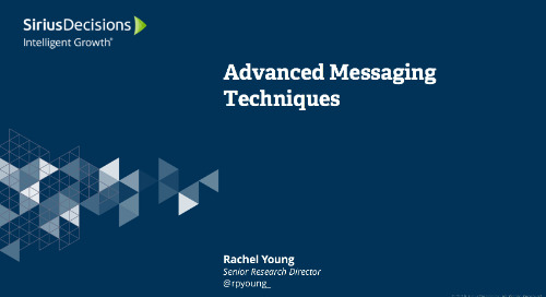 Advanced Messaging Techniques Webcast Replay