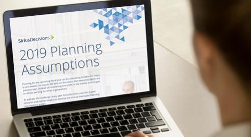 2019 Planning Assumptions Brochure