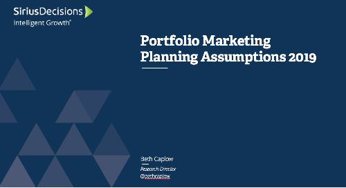 2019 Planning Assumptions: Portfolio Marketing Webcast Replay