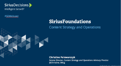 SiriusFoundations: Content Strategy & Ops Webcast Replay