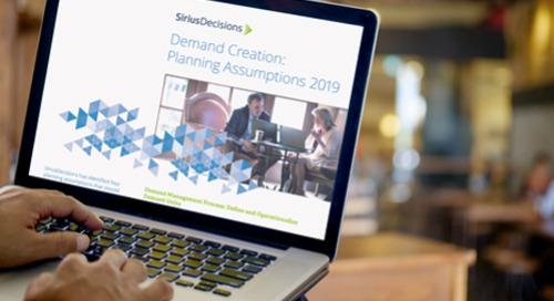Demand Creation Planning Assumptions Guide 2019