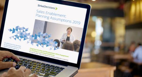 Sales Enablement Planning Assumptions Guide 2019