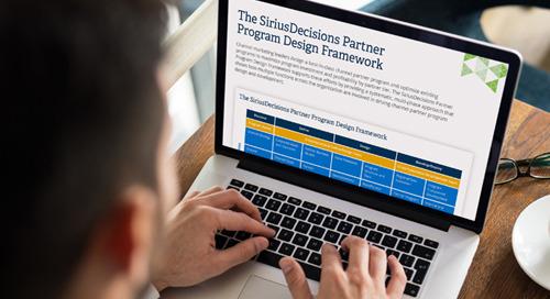 The SiriusDecisions Partner Program Design Framework