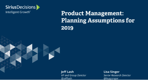 2019 Planning Assumptions: Product Management Webcast Replay