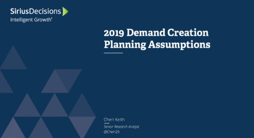 2019 Demand Creation Planning Assumptions Webcast Replay