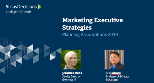 2019 Planning Assumptions: Marketing Leaders Webcast Replay