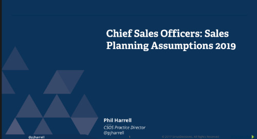 2019 Planning Assumptions: Sales Leaders Webcast Replay